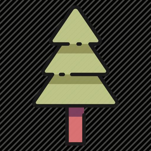 element, garden, nature, plant, tree, triangle icon