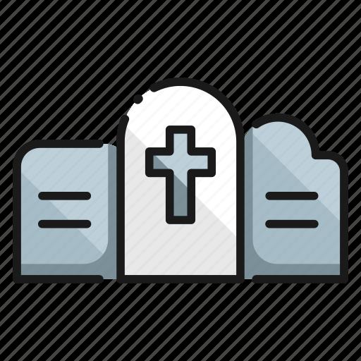 city, cross, grave, graveyard, tomb, tombstone, urban icon