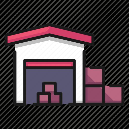 city, goods, industry, storage, store, urban, warehouse icon