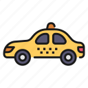 car, drive, taxi, transport, vehicle icon