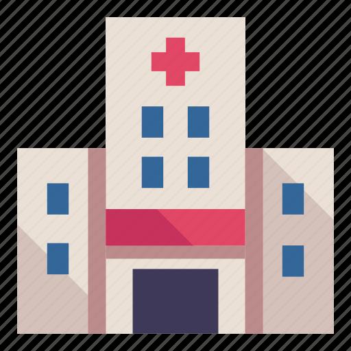 care, city, hospital, medical, treatment, urban icon