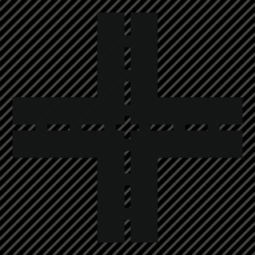 crossing, crossroad, road, street, traffic, way icon