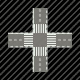 cartoon, crosswalk, highway, pedestrian, road, transportation icon