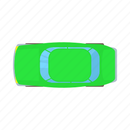 auto, automobile, car, cartoon, green, transportation, vehicle icon