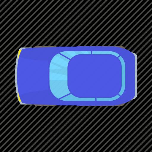 auto, blue, car, cartoon, sedan, transportation, vehicle icon