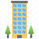 architecture, business, factory, industry, office building icon