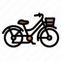 bicycle, bike, cycling, exercise, transportation icon