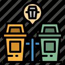 architecture, basket, bin, garbage, trash