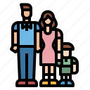 children, family, fun, kid, mother icon