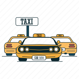 cab, car, city, taxi, transportation icon