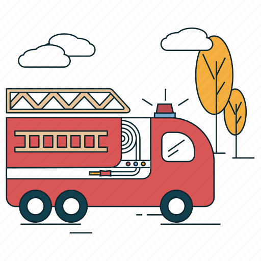 emergency, fird, fire engine, rescue icon