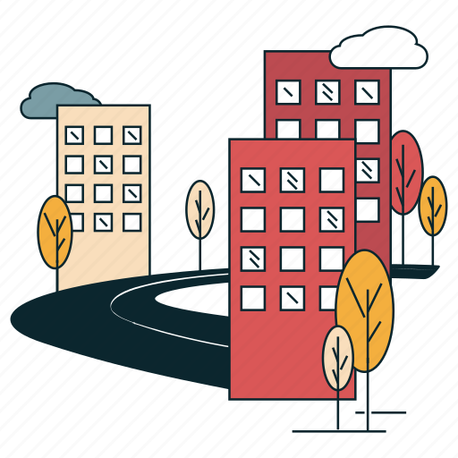 apartment, buildings, city, city life, flat, malls icon