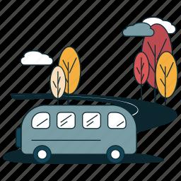 boulevard, road, suburban, transportation, village icon