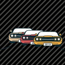 automobile, car, cars, race, road, traffic, transportation icon