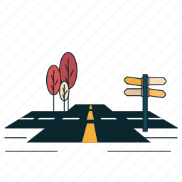 city, directions, map, navigation, road, signal, signboard icon