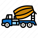 concrete, truck, construction, pack, transport