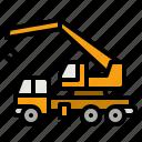 crane, heavy, vehicle, breakdown, construction