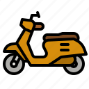 scooter, delivery, food, motorcycle, bike