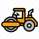 tractor, paver, field, ground, vehicle