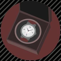 box, clocks, luxury, present, watches icon