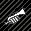 bass, trumpet icon