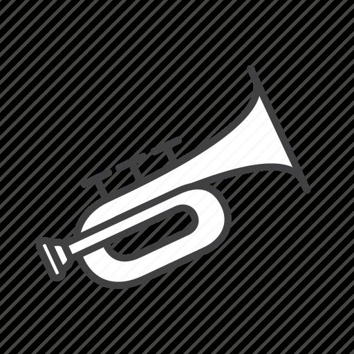 brass, cornet icon