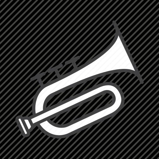 brass, flugelhorn icon