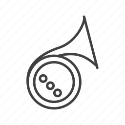 brass, french, horn icon