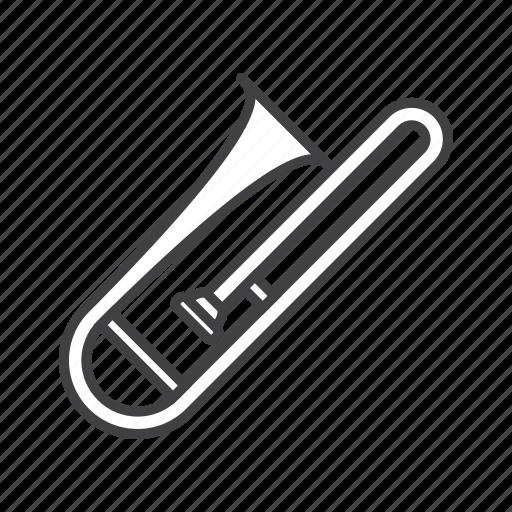 alto, brass, trombone icon