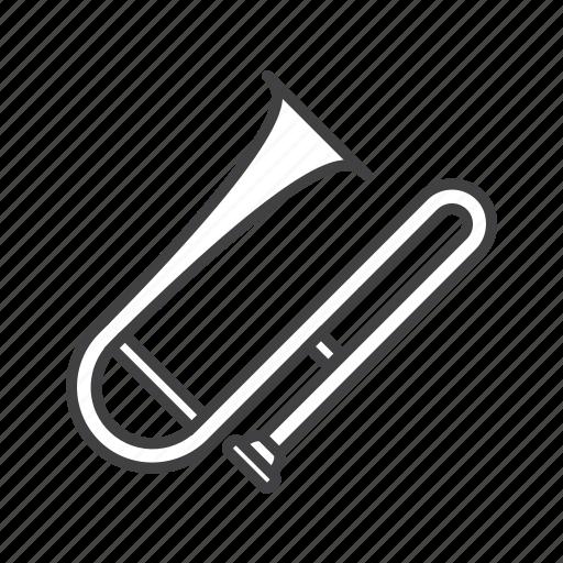 brass, tenor, trombone icon