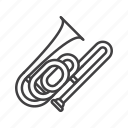 bass, brass, trombone icon