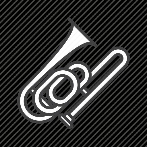 bass, brass, trombone icon