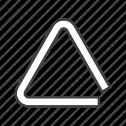 idiophone, percussion, triangle icon