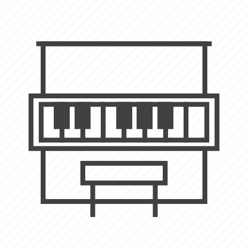 Keys, piano, upright icon - Download on Iconfinder