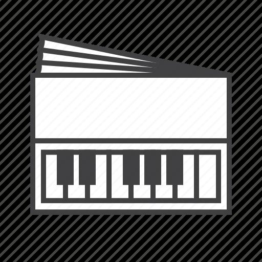 accordion, harmonica, harmonium, keys icon