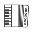 accordion, bandoneon, concertina, harmonica icon