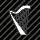 harp, plucked, strings