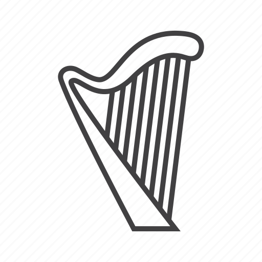 harp, plucked, strings icon