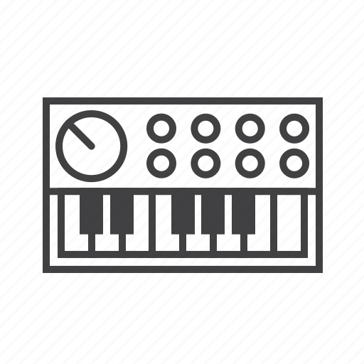 keys, synthesizer, syth icon