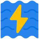clean, energy, hydro, power, renewable icon