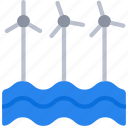 clean, energy, offshore, turbines, wind icon