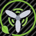 clean, energy, power, renewable, wind icon
