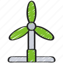 clean, energy, power, turbine, wind icon