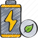 battery, clean, eco, energy, power icon