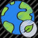 clean, eco, energy, globe, world icon