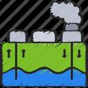clean, energy, geothermal, renewable icon