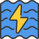 clean, energy, hydro, power, renewable icon