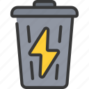 bin, clean, energy, waste icon