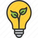 bulb, clean, energy, innovative, solutions icon
