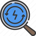 clean, energy, renewable, renwable, research icon